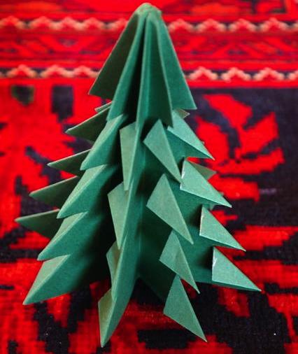 クリスマスツリー折り紙簡単