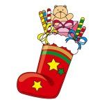 クリスマスにブーツのお菓子を子供にプレゼント