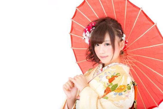 卒業式袴着物かわいい髪型ミディアムヘア